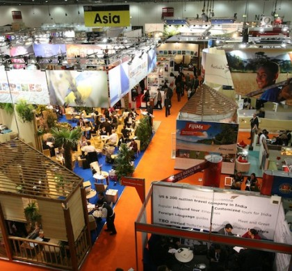 World Travel Market 2009, ExCeL, London: Arial stand views - Asia Pacific Area