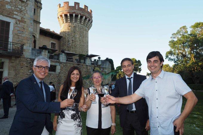 Fotrografia de los premiados en la Gala Enoturismo 2017