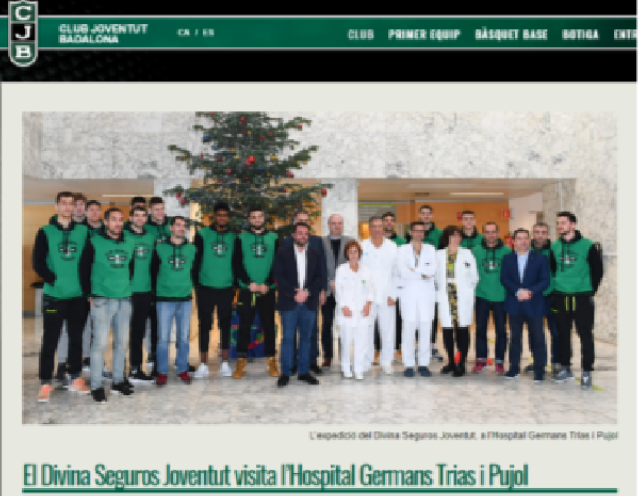 Visita Hospital Can Ruti-Germans Tries i Pujol